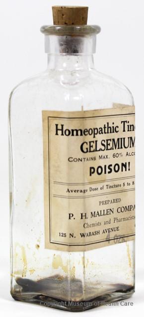 Homeopathic Tincture of Gelsemium Sempervirens • Museum of Health